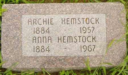 HEMSTOCK, ARCHIE - Lincoln County, South Dakota | ARCHIE HEMSTOCK - South Dakota Gravestone Photos