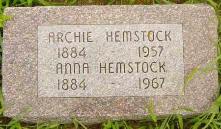 HEMSTOCK, ANNA - Lincoln County, South Dakota | ANNA HEMSTOCK - South Dakota Gravestone Photos