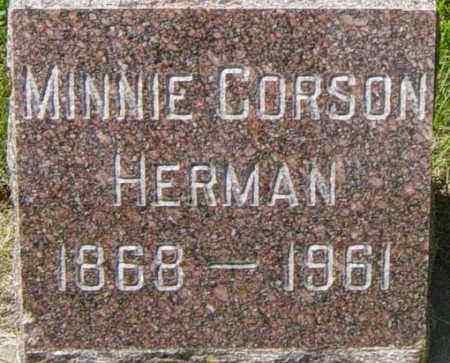 CORSON HERMAN, MINNIE - Lincoln County, South Dakota | MINNIE CORSON HERMAN - South Dakota Gravestone Photos