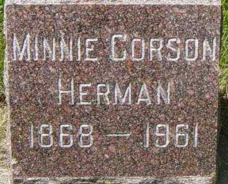 CORSON HERMAN, MINNIE - Lincoln County, South Dakota | MINNIE CORSON HERMAN - South Dakota Gravestone Photos