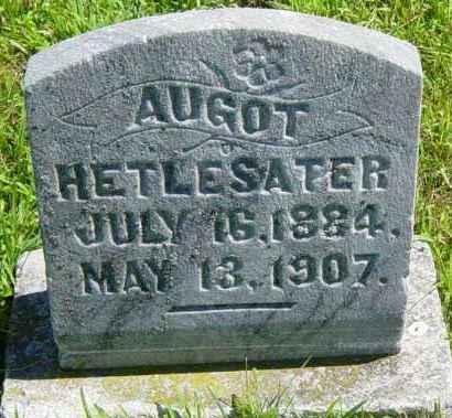 HETLESATER, AUGOT - Lincoln County, South Dakota | AUGOT HETLESATER - South Dakota Gravestone Photos