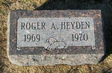 HEYDEN, ROGER A. - Lincoln County, South Dakota   ROGER A. HEYDEN - South Dakota Gravestone Photos