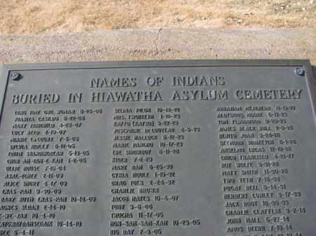 *HIAWATHA, CLOSEUP - Lincoln County, South Dakota   CLOSEUP *HIAWATHA - South Dakota Gravestone Photos