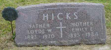 HICKS, EMILY E - Lincoln County, South Dakota | EMILY E HICKS - South Dakota Gravestone Photos