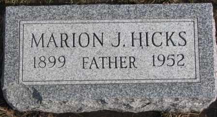 HICKS, MARION J. - Lincoln County, South Dakota | MARION J. HICKS - South Dakota Gravestone Photos