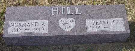 HILL, NORMAND A - Lincoln County, South Dakota   NORMAND A HILL - South Dakota Gravestone Photos