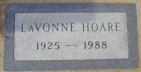 HOARE, LAVONNE - Lincoln County, South Dakota | LAVONNE HOARE - South Dakota Gravestone Photos