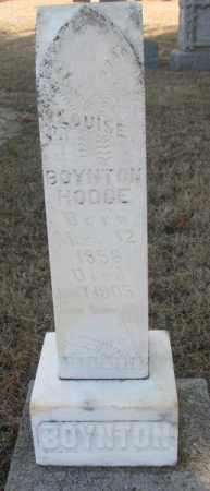 BOYNTON HODGE, LOUISE - Lincoln County, South Dakota | LOUISE BOYNTON HODGE - South Dakota Gravestone Photos