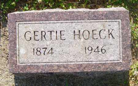HOECK, GERTIE - Lincoln County, South Dakota | GERTIE HOECK - South Dakota Gravestone Photos