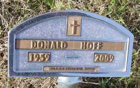 HOFF, DONALD - Lincoln County, South Dakota | DONALD HOFF - South Dakota Gravestone Photos