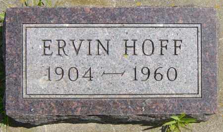 HOFF, ERVIN - Lincoln County, South Dakota | ERVIN HOFF - South Dakota Gravestone Photos