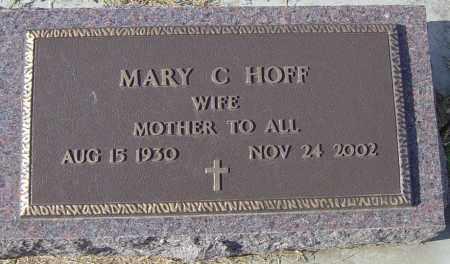 HOFF, MARY C - Lincoln County, South Dakota   MARY C HOFF - South Dakota Gravestone Photos