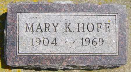 HOFF, MARY K - Lincoln County, South Dakota   MARY K HOFF - South Dakota Gravestone Photos