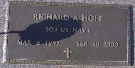 HOFF, RICHARD A - Lincoln County, South Dakota   RICHARD A HOFF - South Dakota Gravestone Photos