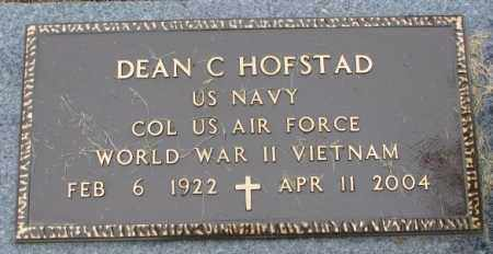HOFSTAD, DEAN C. (MILITARY) - Lincoln County, South Dakota | DEAN C. (MILITARY) HOFSTAD - South Dakota Gravestone Photos