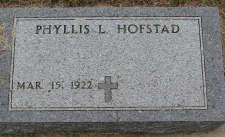 HOFSTAD, PHYLLIS L. - Lincoln County, South Dakota | PHYLLIS L. HOFSTAD - South Dakota Gravestone Photos