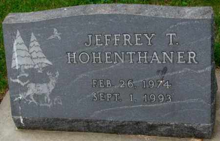 HOHENTHANER, JEFFREY T. - Lincoln County, South Dakota | JEFFREY T. HOHENTHANER - South Dakota Gravestone Photos