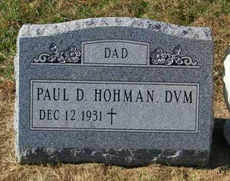 HOHMAN, PAUL D - Lincoln County, South Dakota   PAUL D HOHMAN - South Dakota Gravestone Photos