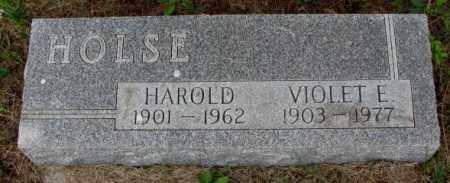 HOLSE, HAROLD - Lincoln County, South Dakota | HAROLD HOLSE - South Dakota Gravestone Photos