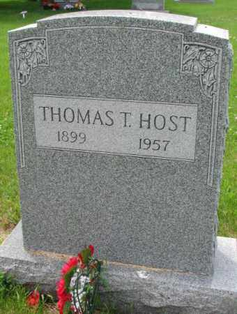 HOST, THOMAS T. - Lincoln County, South Dakota | THOMAS T. HOST - South Dakota Gravestone Photos