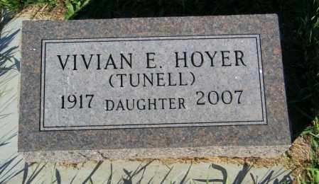 HOYER, VIVIAN E. - Lincoln County, South Dakota | VIVIAN E. HOYER - South Dakota Gravestone Photos