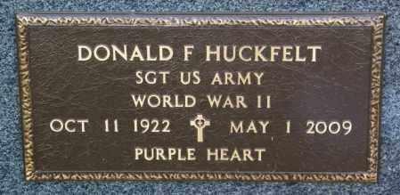 HUCKFELT, DONALD F. - Lincoln County, South Dakota | DONALD F. HUCKFELT - South Dakota Gravestone Photos