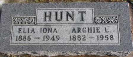 HUNT, ARCHIE L. - Lincoln County, South Dakota | ARCHIE L. HUNT - South Dakota Gravestone Photos