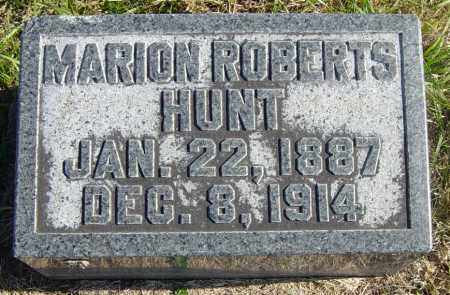 ROBERTS HUNT, MARION - Lincoln County, South Dakota | MARION ROBERTS HUNT - South Dakota Gravestone Photos