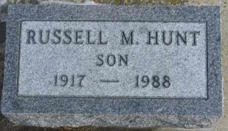 HUNT, RUSSELL M. - Lincoln County, South Dakota | RUSSELL M. HUNT - South Dakota Gravestone Photos