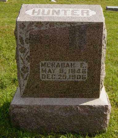 HUNTER, MERABAH E - Lincoln County, South Dakota   MERABAH E HUNTER - South Dakota Gravestone Photos