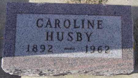 HUSBY, CAROLINE - Lincoln County, South Dakota | CAROLINE HUSBY - South Dakota Gravestone Photos