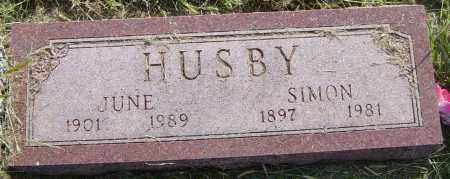 HUSBY, JUNE - Lincoln County, South Dakota   JUNE HUSBY - South Dakota Gravestone Photos