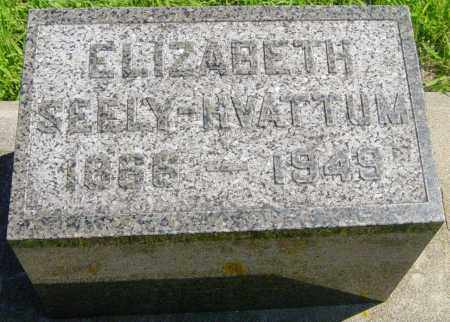SEELY HVATTUM, ELIZABETH - Lincoln County, South Dakota | ELIZABETH SEELY HVATTUM - South Dakota Gravestone Photos