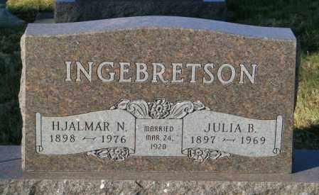 INGEBRETSON, HJALMAR N. - Lincoln County, South Dakota   HJALMAR N. INGEBRETSON - South Dakota Gravestone Photos