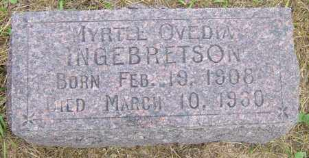 INGEBRETSON, MYRTLE OVEDIA - Lincoln County, South Dakota   MYRTLE OVEDIA INGEBRETSON - South Dakota Gravestone Photos