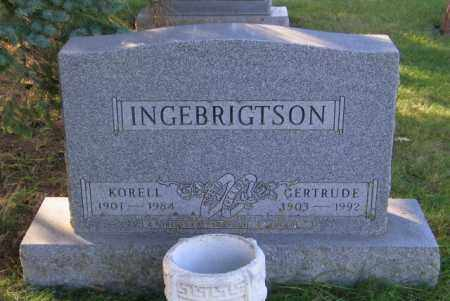 INGEBRIGTSON, GERTRUDE - Lincoln County, South Dakota | GERTRUDE INGEBRIGTSON - South Dakota Gravestone Photos