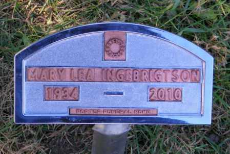 INGEBRIGTSON, MARY LEA - Lincoln County, South Dakota | MARY LEA INGEBRIGTSON - South Dakota Gravestone Photos