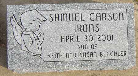 IRONS, SAMUEL CARSON - Lincoln County, South Dakota | SAMUEL CARSON IRONS - South Dakota Gravestone Photos