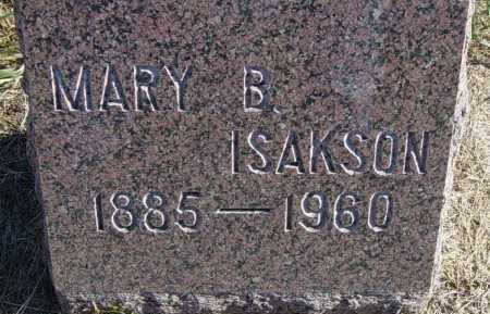 BERGSTROM ISAKSON, MARY B - Lincoln County, South Dakota | MARY B BERGSTROM ISAKSON - South Dakota Gravestone Photos