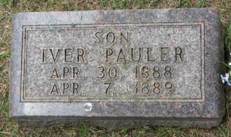 IVERSON, IVER PAULER - Lincoln County, South Dakota | IVER PAULER IVERSON - South Dakota Gravestone Photos