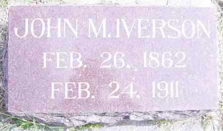 IVERSON, JOHN M - Lincoln County, South Dakota | JOHN M IVERSON - South Dakota Gravestone Photos