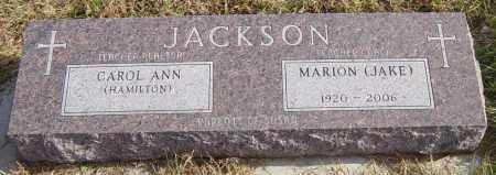 HAMILTON JACKSON, CAROL ANN - Lincoln County, South Dakota   CAROL ANN HAMILTON JACKSON - South Dakota Gravestone Photos