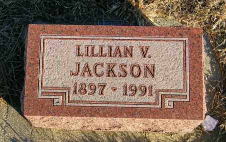 JACKSON, LILLIAN V - Lincoln County, South Dakota | LILLIAN V JACKSON - South Dakota Gravestone Photos
