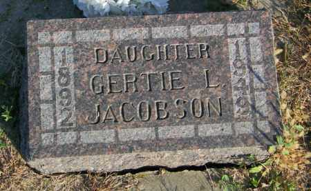 JACOBSON, GERTIE L. - Lincoln County, South Dakota | GERTIE L. JACOBSON - South Dakota Gravestone Photos