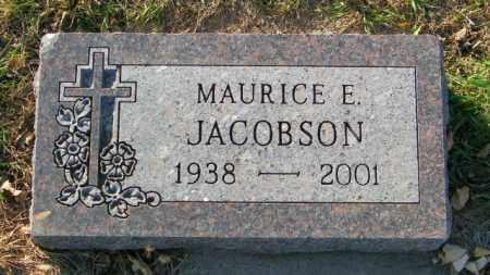 JACOBSON, MAURICE E. - Lincoln County, South Dakota   MAURICE E. JACOBSON - South Dakota Gravestone Photos