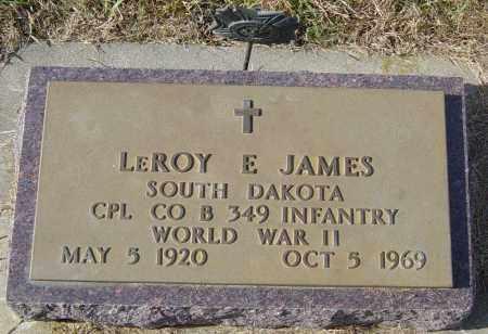 JAMES, LEROY E - Lincoln County, South Dakota | LEROY E JAMES - South Dakota Gravestone Photos