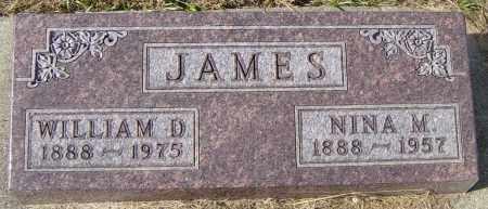 JAMES, WILLIAM D - Lincoln County, South Dakota | WILLIAM D JAMES - South Dakota Gravestone Photos