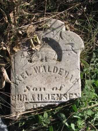 JENSEN, AXEL WALDEMAR - Lincoln County, South Dakota   AXEL WALDEMAR JENSEN - South Dakota Gravestone Photos