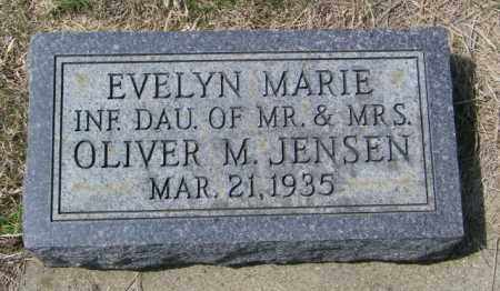 JENSEN, EVELYN MARIE - Lincoln County, South Dakota | EVELYN MARIE JENSEN - South Dakota Gravestone Photos