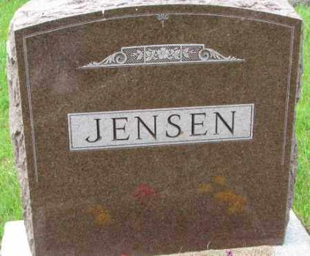 JENSEN, FAMILY PLOT MARKER - Lincoln County, South Dakota | FAMILY PLOT MARKER JENSEN - South Dakota Gravestone Photos